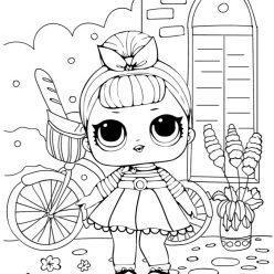 Раскраски для детей Кукла лол «2 серия», чтобы распечатать