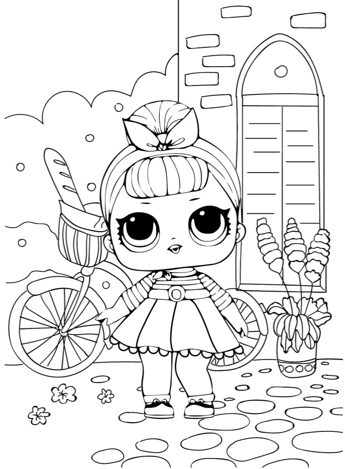 Кукла ЛОЛ на прогулке - Куклы LOL - Раскраски антистресс