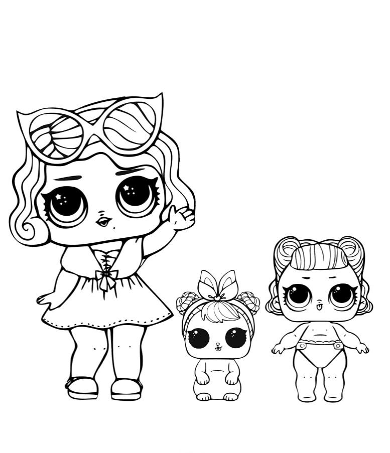 Кукла ЛОЛ гламур с питомцем и сестренкой - Куклы LOL ...