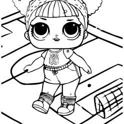 Раскраски для детей Кукла лол «беби атлетик», чтобы распечатать формат А4
