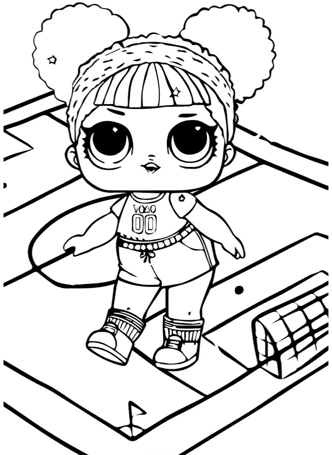 Кукла ЛОЛ Беби атлетик - Куклы LOL - Раскраски антистресс