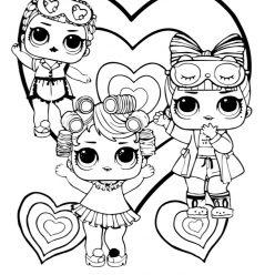 Раскраски для детей Кукла лол «Конфетти Sleepower CLUB», чтобы распечатать формат А4