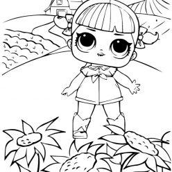 Раскраски для детей Кукла лол «Конфетти танцующая королева», чтобы распечатать формат А4