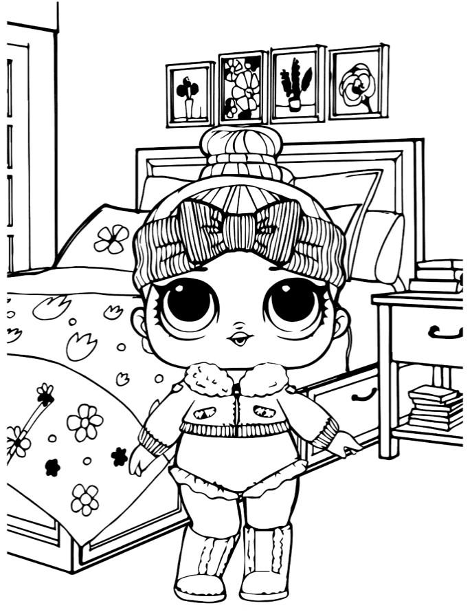Раскраски для детей Кукла лол «уютная малышка 2 серия», чтобы распечатать формат А4
