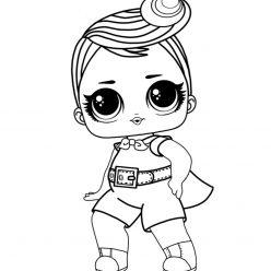 Раскраски для детей Кукла лол «рок клуб», чтобы распечатать формат А4