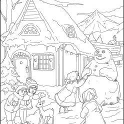 Раскраски сложные для взрослых антистресс «Новогодние забавы», чтобы распечатать