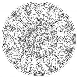 Раскраски антистресс мандала «Процветание», чтобы распечатать