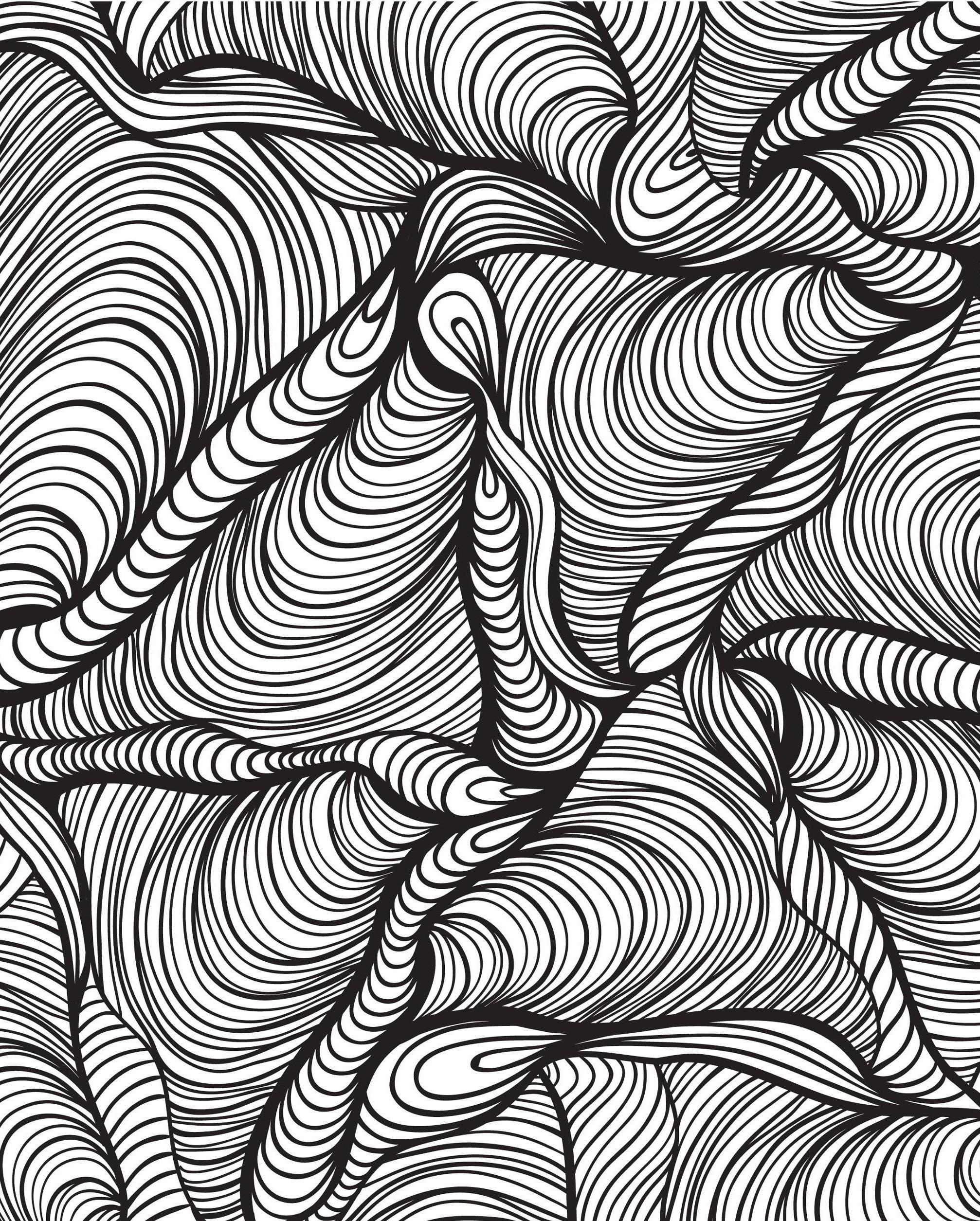 Треугольники - Узоры - Раскраски антистресс