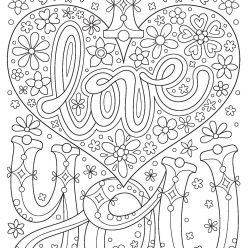 Раскраски антистресс хорошего качества «I love you», чтобы распечатать
