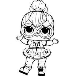 Раскраски кукла лол для девочек «неон кьюти», чтобы распечатать