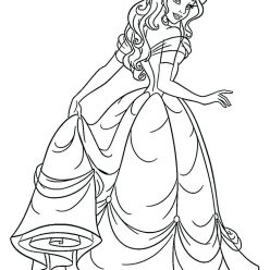 Раскраски принцесса Дисней для девочек «Принцесса Белль», чтобы распечатать