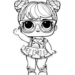 Раскраски кукла лол для девочек «бон бон», чтобы распечатать и раскрасить онлайн