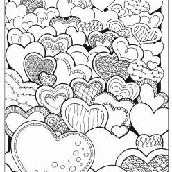 Раскраски антистресс хорошего качества «День святого Валентина», чтобы распечатать