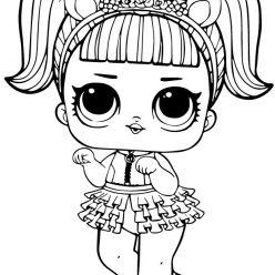 Раскраски кукла лол для детей «Единорожка», чтобы распечатать бесплатно или раскрасить онлайн