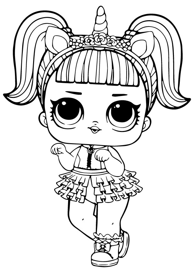Кукла ЛОЛ единорожка - Куклы LOL - Раскраски антистресс