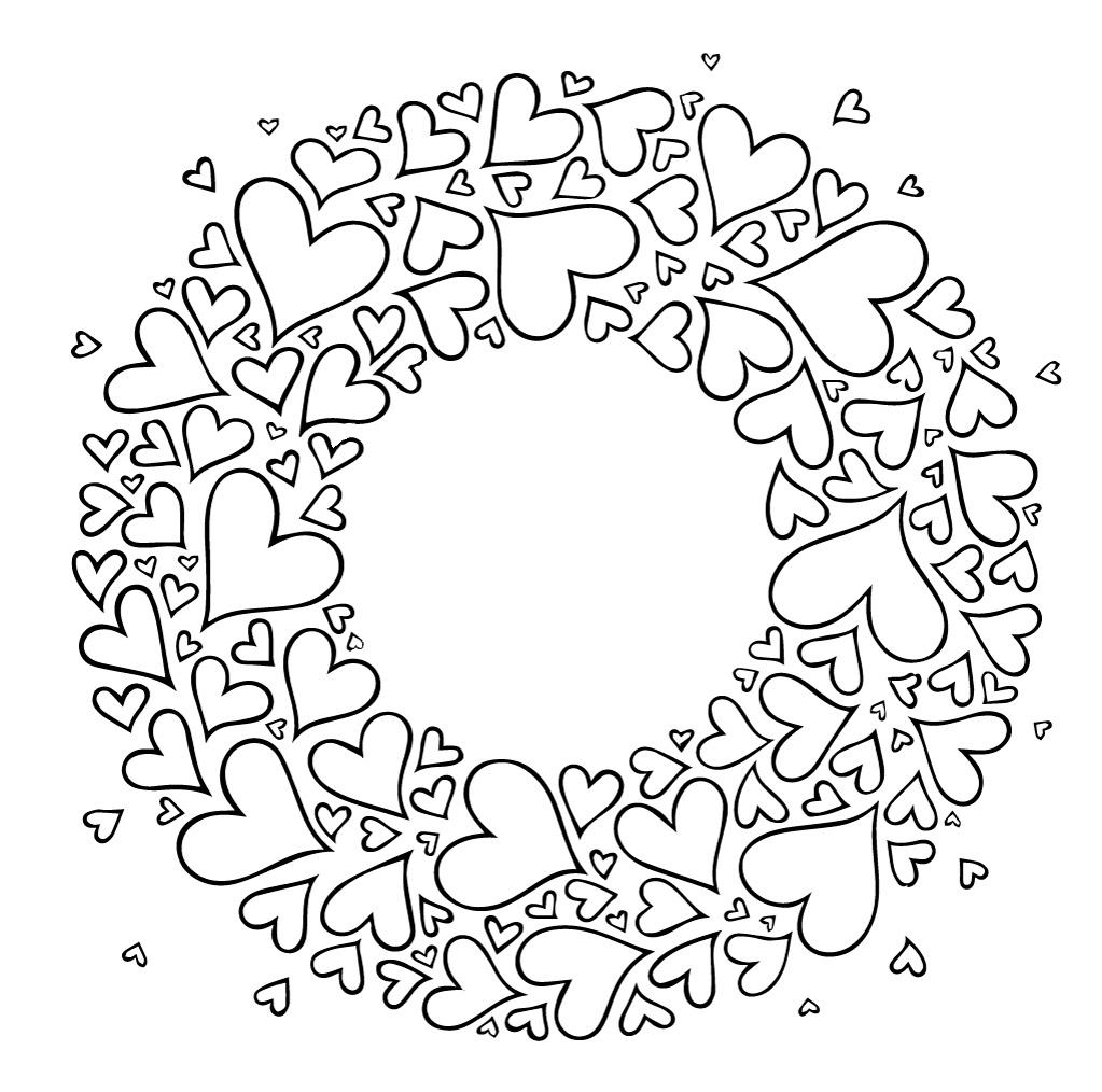 Раскраски антистресс хорошего качества «Ко дню святого Валентина», чтобы распечатать
