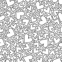 Раскраски антистресс хорошего качества «Очень много сердечек», чтобы распечатать