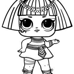 Раскраски кукла лол для детей «Фараон», чтобы распечатать