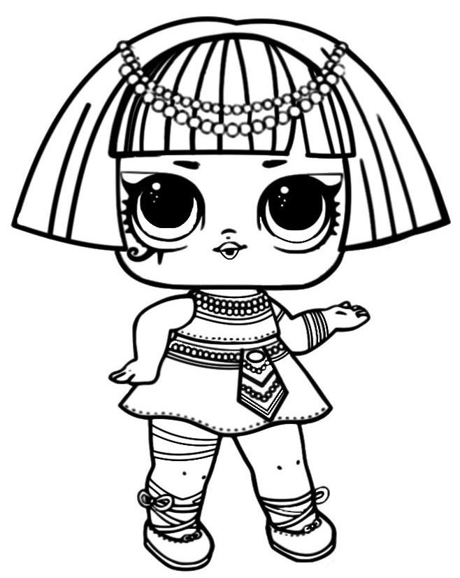 кукла лол фараон куклы Lol раскраски антистресс