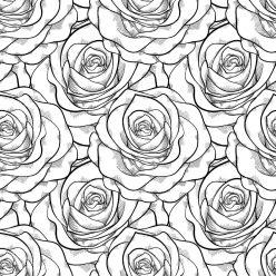 Раскраски антистресс хорошего качества «Прекрасные розы», чтобы распечатать