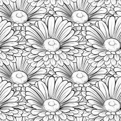 Раскраски антистресс хорошего качества «Садовые ромашки», чтобы распечатать