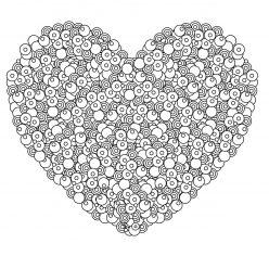 Раскраски антистресс хорошего качества «Сердце из бусинок», чтобы распечатать