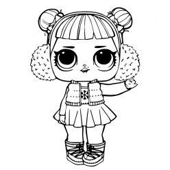 Раскраски кукла лол для девочек «Снежный ангел», чтобы распечатать и раскрасить онлайн