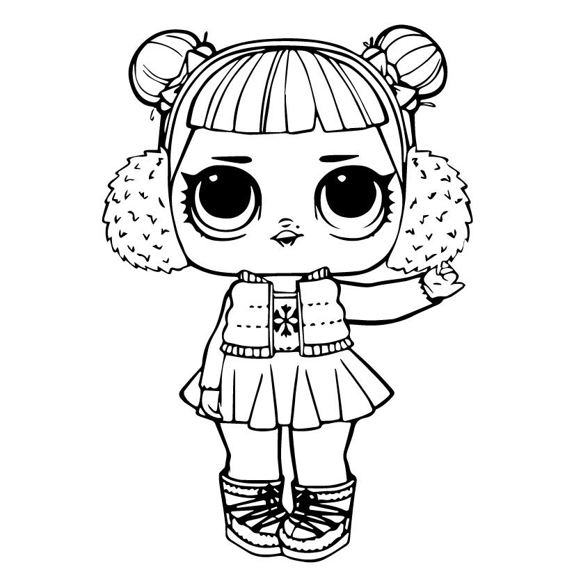 Кукла ЛОЛ снежный ангел - Куклы LOL - Раскраски антистресс