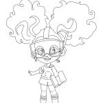 Раскраски Кукла-загадка cтильные подружки «Hairdorables» хаирдораблес Кали, чтобы распечатать