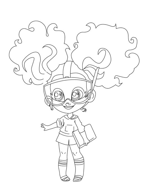 Раскраски Кукла-загадка cтильные подружки «Hairdorables» Кали, чтобы распечатать