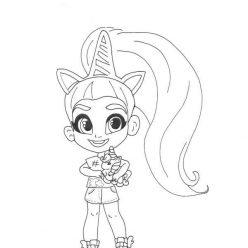 Раскраски Кукла-загадка cтильные подружки «Hairdorables» хаирдораблес Ива, чтобы распечатать