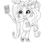 Раскраски Кукла-загадка cтильные подружки «Hairdorables» хаирдораблес Ноа, чтобы распечатать