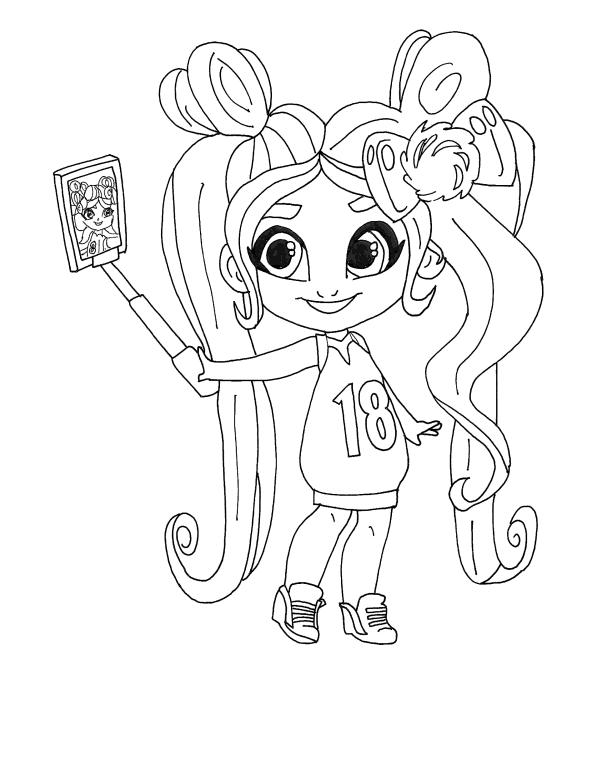 Раскраски Кукла-загадка cтильные подружки «Hairdorables» Ноа, чтобы распечатать