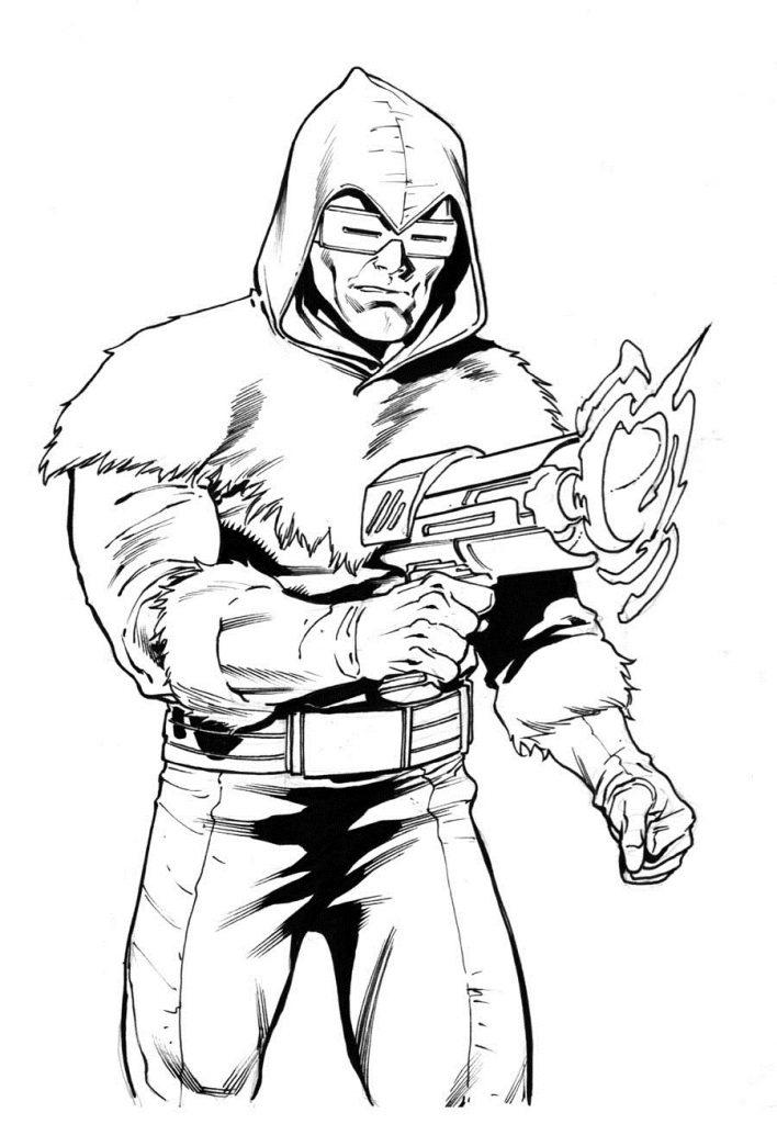 Раскраски Супергерои Марвел для мальчиков «Капитан холод», чтобы распечатать