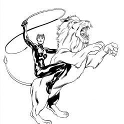 Раскраски Супергерои Марвел для мальчиков «Женщина кошка», чтобы распечатать