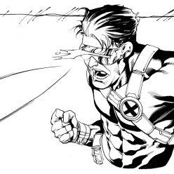 Раскраски Супергерои Марвел для мальчиков «Циклоп», чтобы распечатать