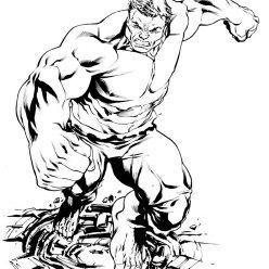 Раскраски Супергерои Марвел для мальчиков «Халк», чтобы распечатать