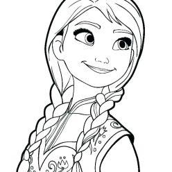 Раскраски из мультфильма Холодное Сердце «Анна», чтобы распечатать