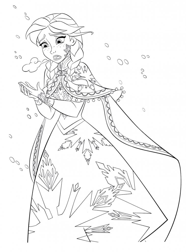 Анна замерзает - Принцессы Дисней - Раскраски антистресс