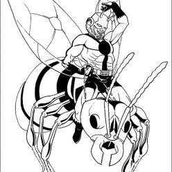 Раскраски Супергерои Марвел для мальчиков «Человек муравей», чтобы распечатать