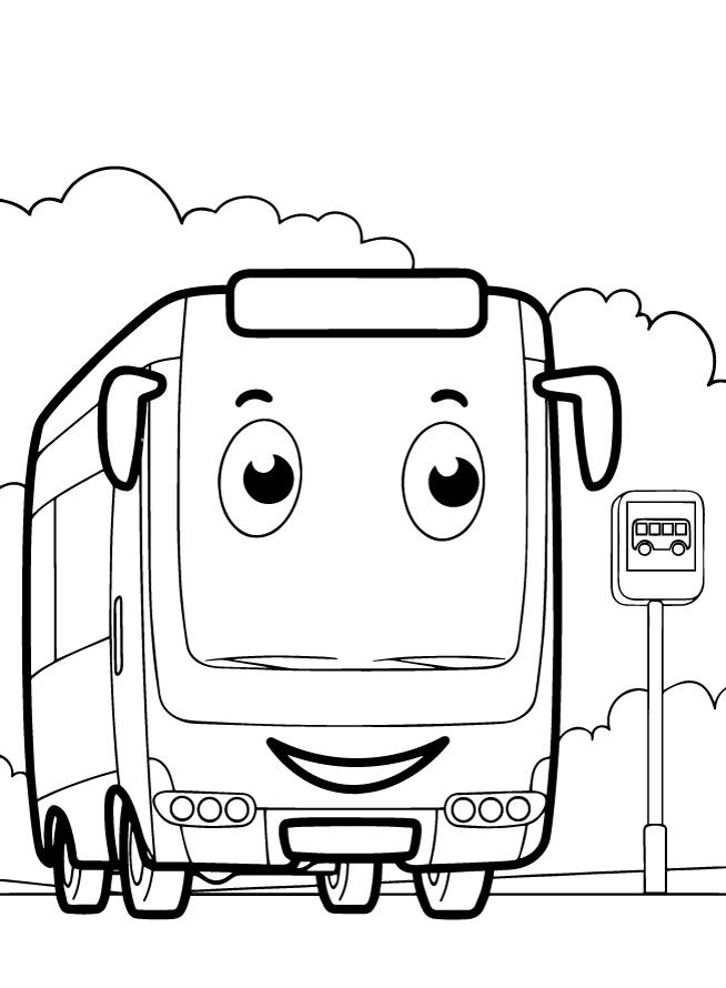 Раскраски для мальчиков транспорт «Автобус», чтобы распечатать и раскрасить онлайн