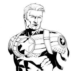 Раскраски Супергерои Марвел для мальчиков «Капитан Америка», чтобы распечатать