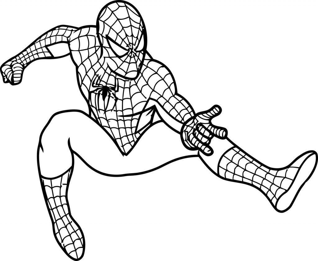 Раскраски Супергерои Марвел для мальчиков «Человек паук», чтобы распечатать