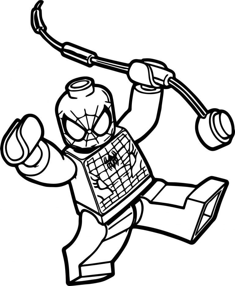 Человек паук лего - Супергерои Марвел - Раскраски антистресс