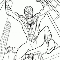 Раскраски Супергерои Марвел для мальчиков «Человек паук возвращение домой», чтобы распечатать