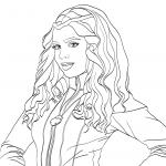 Раскраски фильм «Наследники Descendants» Иви - дочь Злой Королевы, чтобы распечатать
