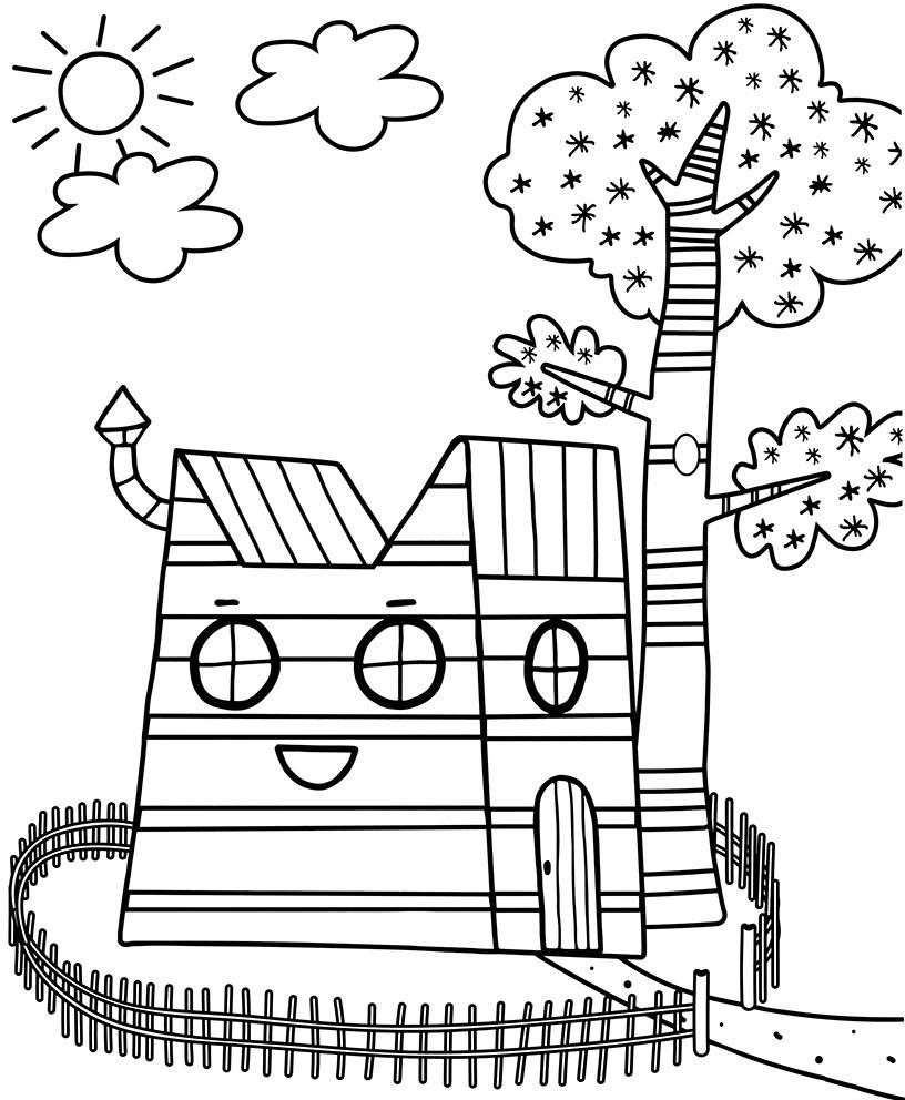 дом семьи три кота три кота раскраски антистресс