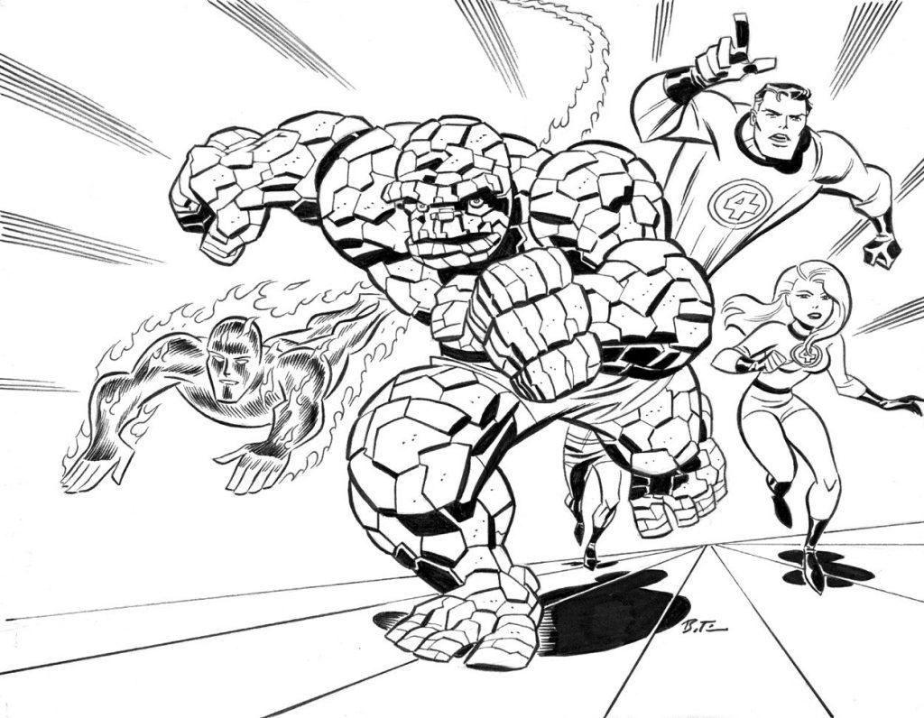 фантастическая четверка марвел супергерои марвел