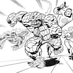 Раскраски Супергерои Марвел для мальчиков «Фантастическая четверка», чтобы распечатать