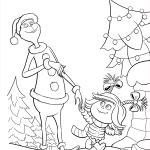 Раскраски из мультфильма «Гринч 2018» Синди Лу зовет Гринча на ужин, чтобы распечатать